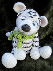 Darling White Crochet Tiger