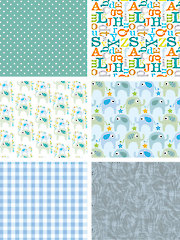 Le Elephant Blue 1/2-Yard Cuts - 6/pkg.