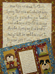 In the Dog House... A Dog's Prayer Wall Hanging Pattern & Panel