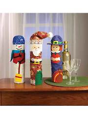 Holiday Bottle Covers Sewing Pattern