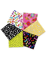 Dog Happy Fat Quarters - 6/pkg.