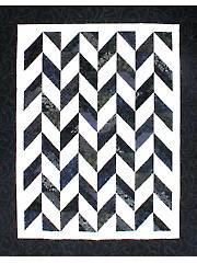 Strip Tube Herringbone Quilt Pattern