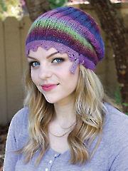 ANNIE'S SIGNATURE DESIGNS: Lace on the Edge Hat Knit Pattern