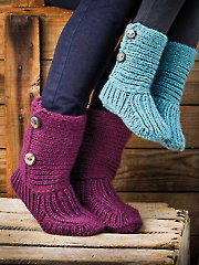 ANNIE'S SIGNATURE DESIGNS: Snug Slippers Knit Pattern