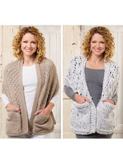 ANNIE'S SIGNATURE DESIGNS: Reader's Wrap Knit Pattern