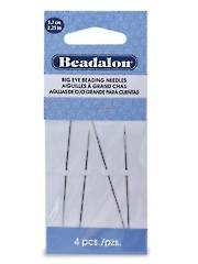 "Big Eye Beading Needle 2.25"" 4 Pc."