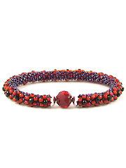 Red Velvet Crochet Bracelet Kit