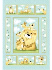 "Lyon, the Lion Panel - 36"" x 44"""