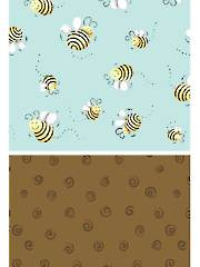 Bees & Brown Swirl Fabric Pack