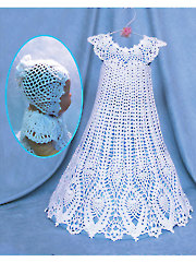 Pineapple Lace Christening Gown