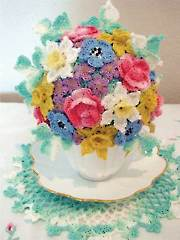 Springtime Tea Cup Bouquet