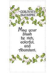 "Quilter's Blessing May Your Stash Art Panel - 6"" x 12"""