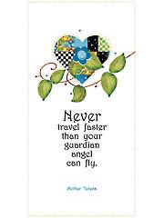 """Mother Teresa """"Never Travel"""" Art Panel - 6"""" x 12"""""""