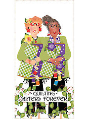 "Quilting Sisters Hope & Star Art Panel - 6"" x 12"""