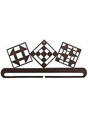 """Quilt Blocks Split Bottom 12"""" Copper Vein Quilt Hanger"""