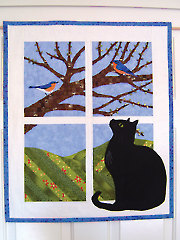Trouble in the Window - Spring Wall Hanging Pattern