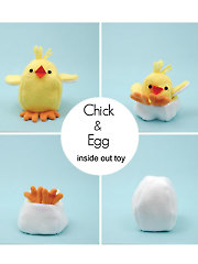 Chick and Egg Reversible Toy Sewing Pattern
