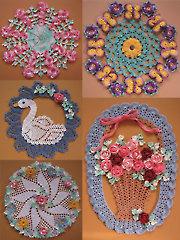 More Vintage Floral Doilies