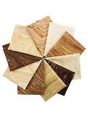 Sandscapes Earth/Latte Fat Quarters - 10/pkg.
