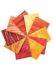 Sandscapes Sunglow/Coral Fat Quarters - 10/pkg.