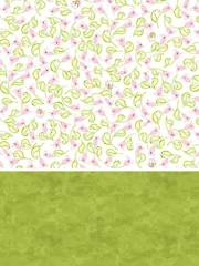 Pretty Pink Flowers & Green Fabric Pack or 1/2-Yard Cut