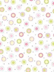 Pink Circle Dot Backing - 3-Yard Cut