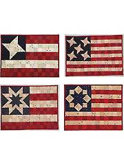 Broad Stripes, Bright Stars Place Mat Pattern