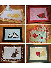 Seasonal Placemats: Sets 3 & 4 Sewing Pattern