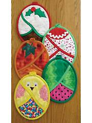 Hot Pads Four All Seasons Sewing Pattern