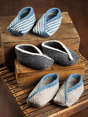 ANNIE'S SIGNATURE DESIGNS: Adult Tiptoe Slippers Knit Pattern
