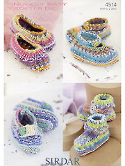 Sirdar Snuggly Baby Crofter DK 4514: Boots Knit Patterns