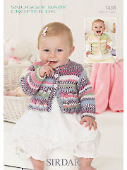 Sirdar Snuggly Baby Crofter DK 1438: Short & Long Sleeve Cardigans Knit Patterns