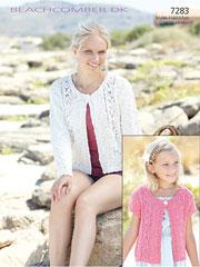 Sirdar Beachcomber DK 7283: Jacket Knit Pattern