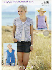 Sirdar Beachcomber DK 7285: Summer Essentials Knit Patterns