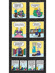 "Material Girl Pickles Comic Panel - 24"" x 42"""