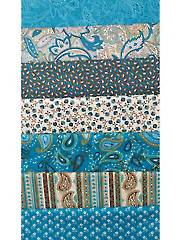 Perfectly Paisley Blue 1/2-Yard Cuts - 7/pkg.