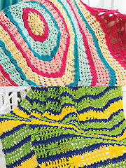 Colorful Crochet Throw & Blanket