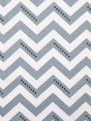 Gray & White Chevron 1-Yard Cut