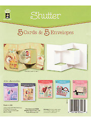 Shutter Die Cut Cards & Envelopes 5/pkg