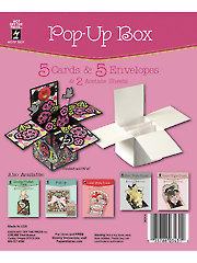 Pop-Up Box Die Cut Cards & Envelopes 5/pkg
