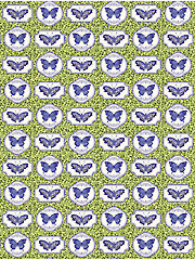 Botanical Blues Butterfly 1-Yard Cut