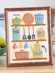 Vintage Kitchen Cross Stitch Pattern