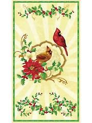 """Christmas Cardinal Panel - 24"""" x 42"""""""