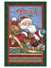 "Christmas Believe Panel - 24"" x 42"""