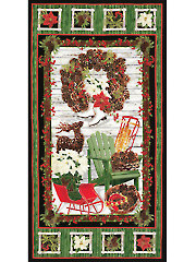 "Country Christmas Panel - 24"" x 42"""