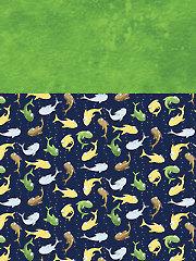 Fish Toss & Green Fabric Pack
