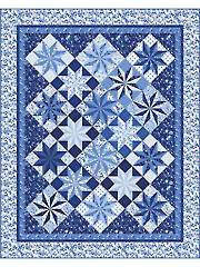 Porcelain Prisms Stars Quilt Kit