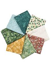 Chickadees & Berries Fat Quarters - 8/Pkg.