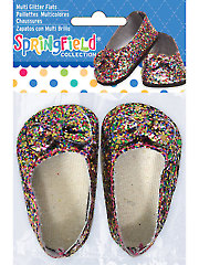 Multi Colored Glitter Flats