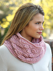 ANNIE'S SIGNATURE DESIGNS: Dusty Bloom Cowl Knit Pattern